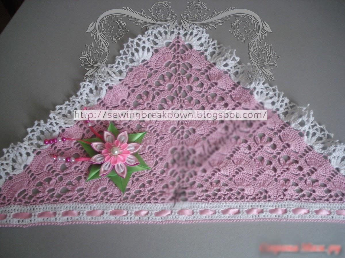 خطوات كروشيه منديل الراس foulard