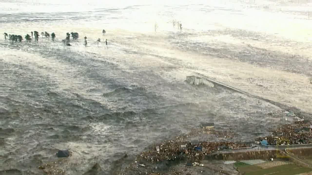 A tsunami in japan