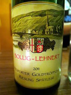 Bollig-Lehnert Piesporter Goldtröpfchen Riesling Spätlese 2011 - Mosel, Germany (91 pts)