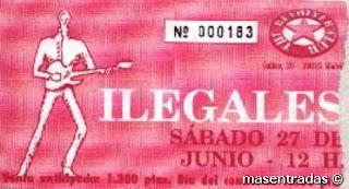 entrada de concierto de ilegales