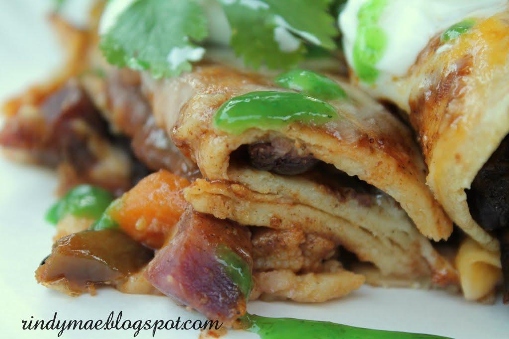 found the original recipe here: Roasted Vegetable Enchiladas