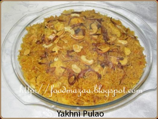 ... stock is called yakhni pulao. Today I am making chicken yakhni pulao
