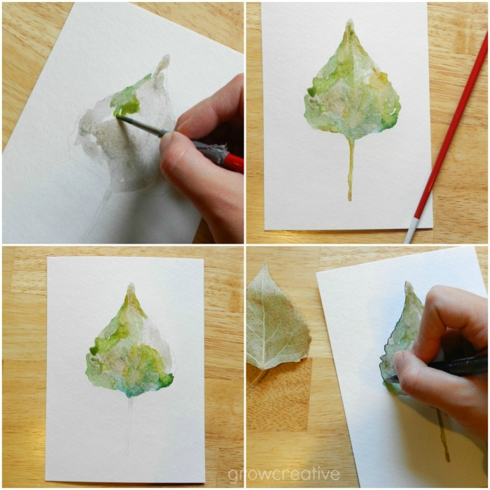 How to Paint a Leaf in Watercolor: Grow Creative
