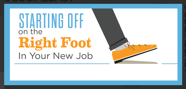 Starting off on the right foot in your new job : image