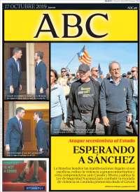 PRIMERA PÁGINA ABC DE ESPAÑA