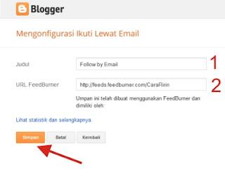 Panduan Cara Memasang Widget Kotak Berlangganan di Blog