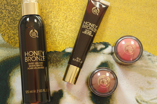 New additions to The Body Shop Honey Bronze range,  The Body Shop Honey Bronze Tinted Leg Mist, The Body Shop Honey Bronze Face Gel, The Body Shop Highlighting Domes, beauty, blusher, bronzer, highlighter, make up, review, skincare, The Body Shop,