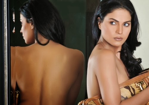 Veena Malik withoout Bra Backless Pics