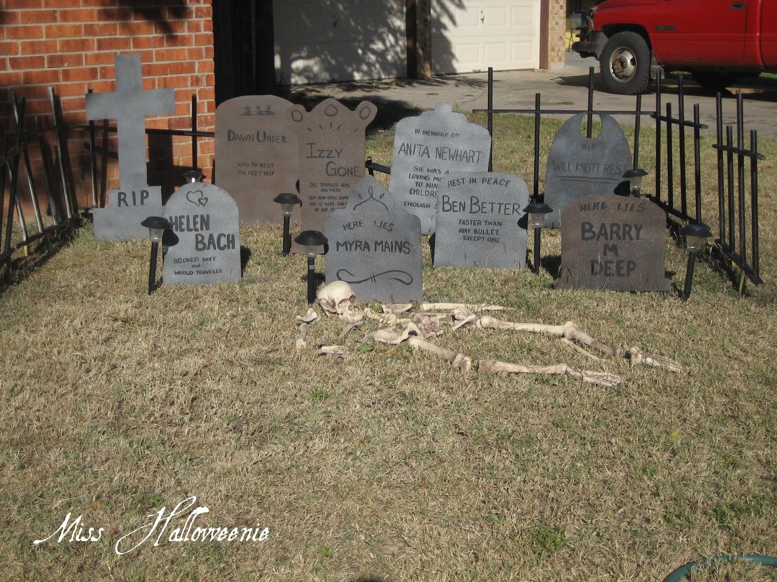 Miss Halloweenie Graveyard Fence