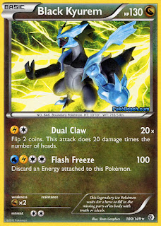 Black Kyurem Boundaries Crossed Pokemon Card