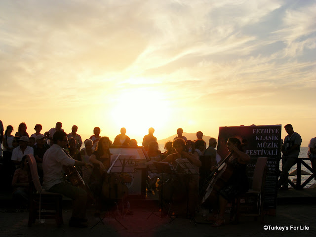 Classical Music At Sunset, Calis Beach, Turkey
