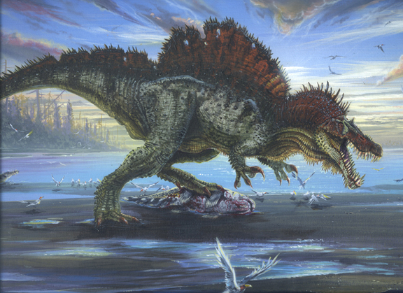 Mandra Dinosaurio-Espinosaurus-lagarto-de-espina