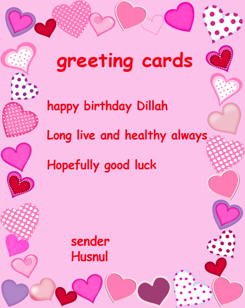 This example of a birthday card I made for a friend resources dillah