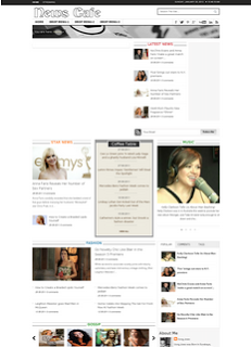 News Cafe Blogger Template