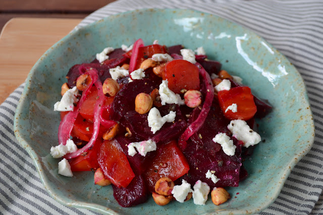 Beet Salad with Goat Cheese and Hazelnuts Recipe