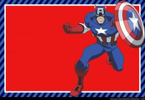 Para hacer tarjetas, invitaciones banderines o etiquetas para Candy Bar de Capitán América.