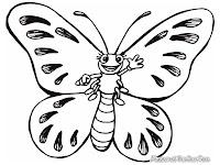 Gambar kupu-kupu untuk diwarnai
