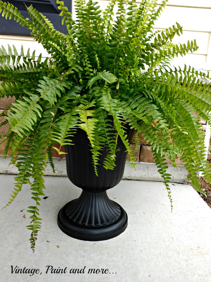 Vintage, Paint and more... Fern urn remade from a dollar store urn