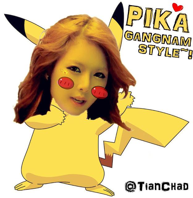 Sexy Hyuna PSY GANGNAM Style Sounds like Pikachu