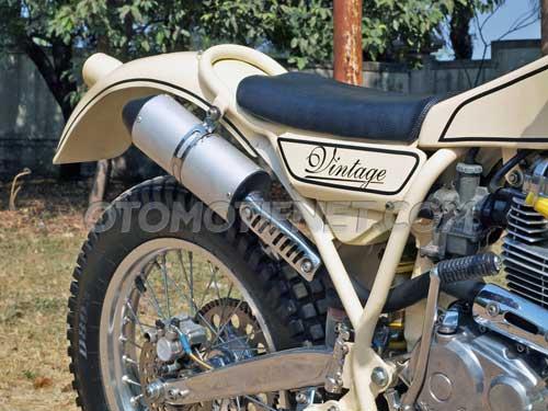 Modifikasi Honda GL Pro, Trial Klasik Kaki Modern