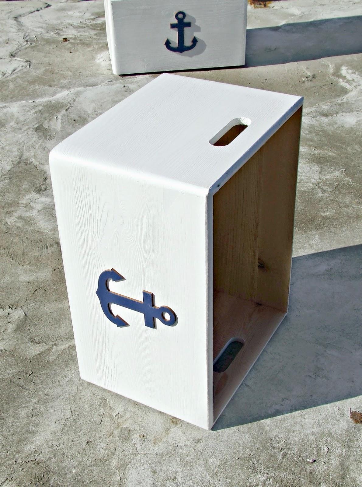 skrzynie pudła na zabawki w marynarskim stylu - pudełka na zabawki Eco Manufaktura