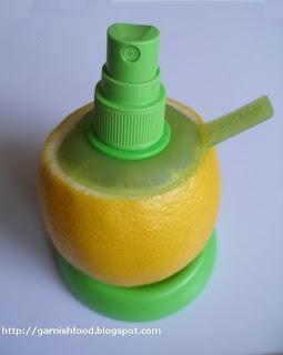 citrus sprayer for apple carving