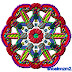 Colour floral shape Kaleidoscope 2013 art designing.