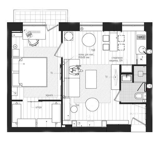 Marzua un piso de 45 metros con m sica de fondo - Distribucion piso 90 metros ...