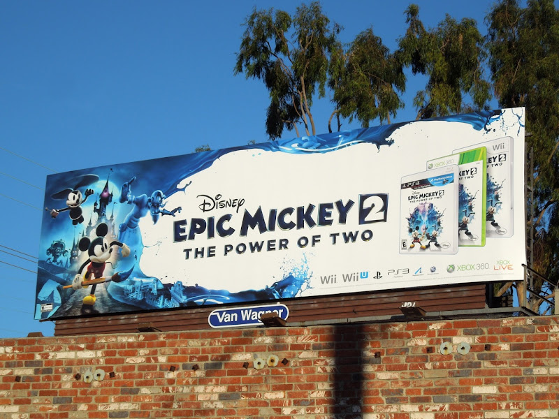 Epic Mickey 2 video game billboard