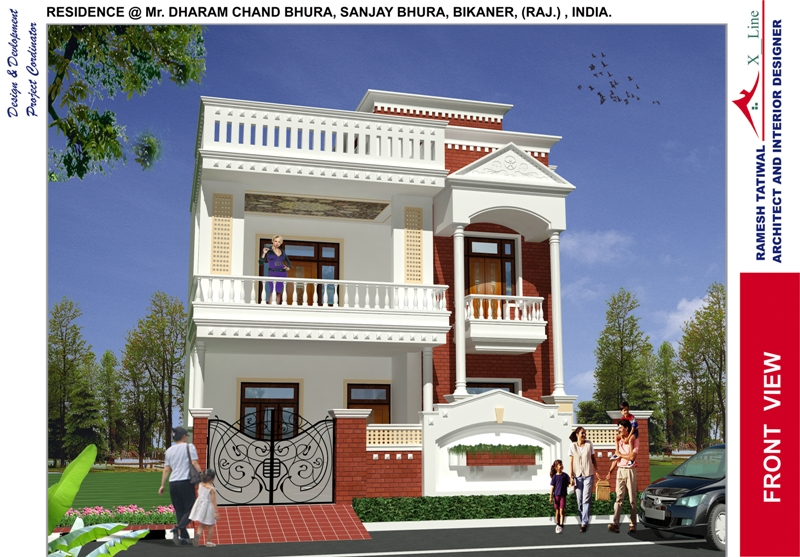 modern indian home design front view