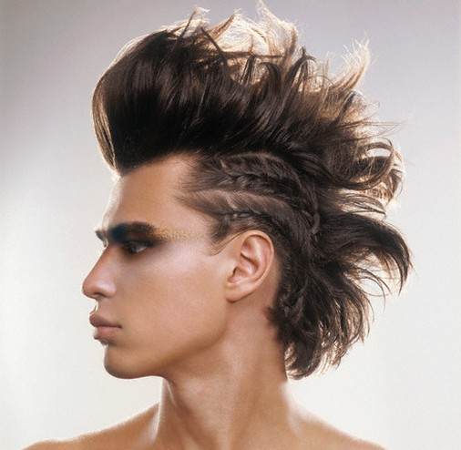 Cool man hairstyle