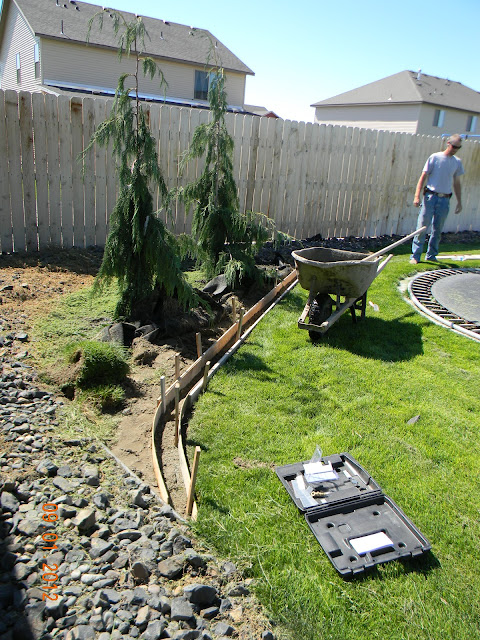 diy landscaping curb