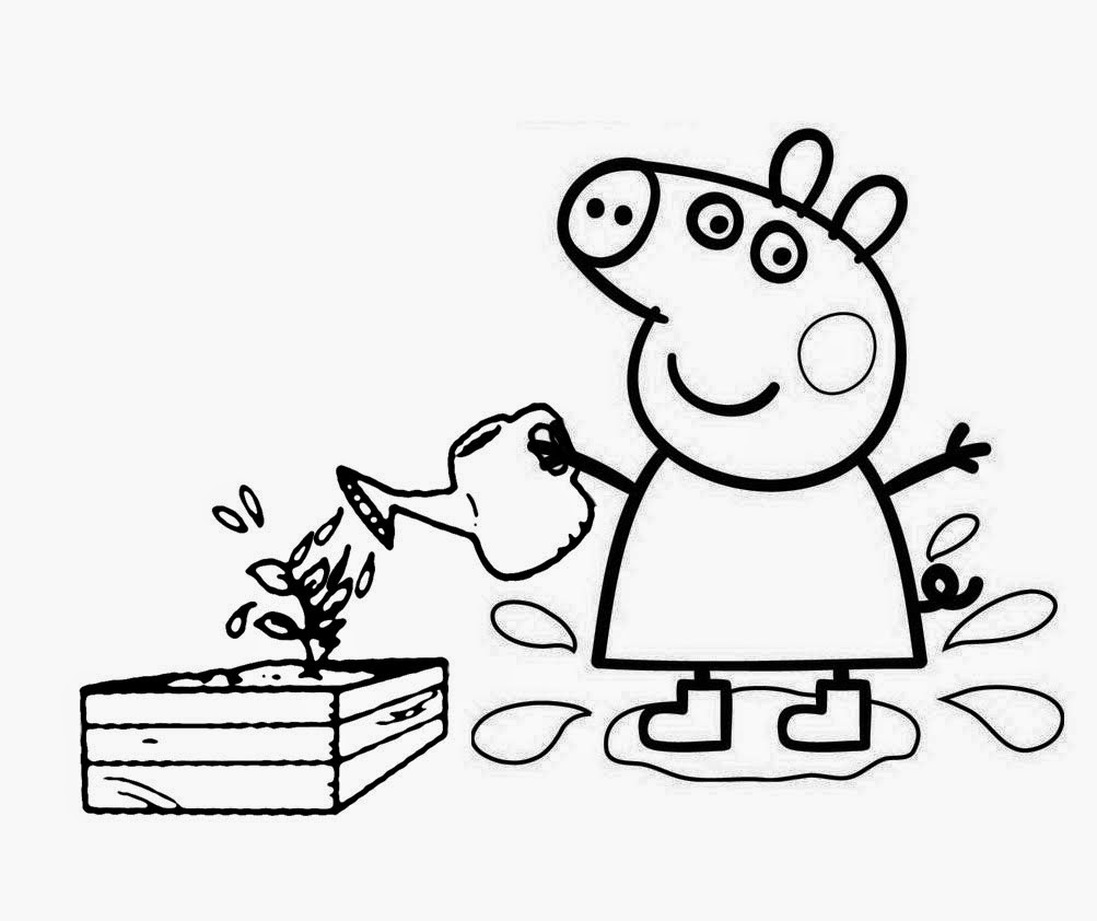 Free sugar peppa pig coloring pages