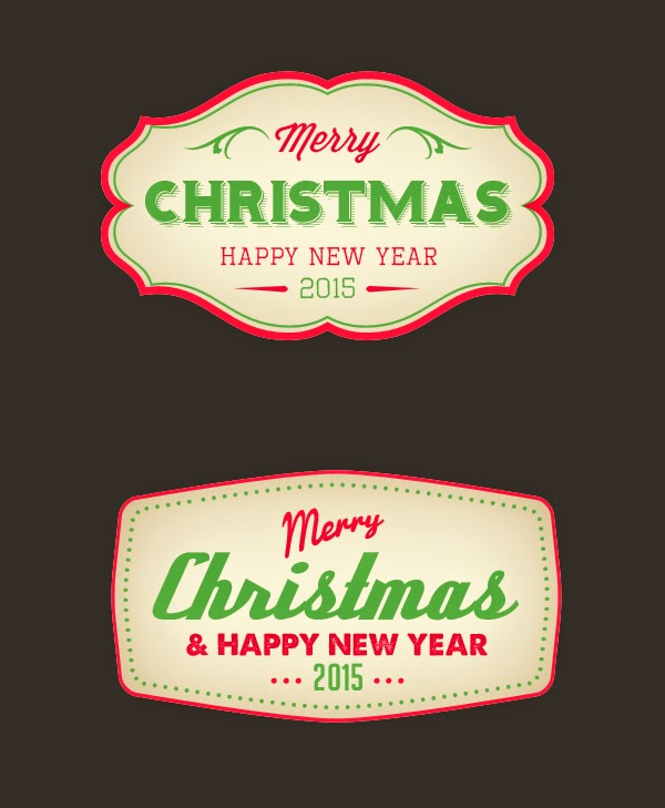 3. Merry Christmas Badge (PSD)