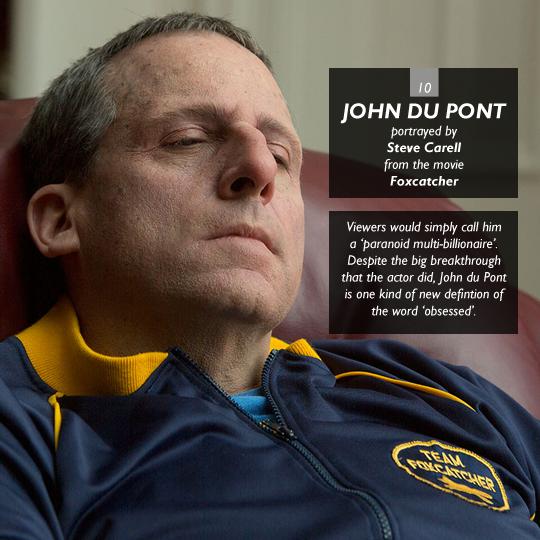 John du Pont from Foxcatcher