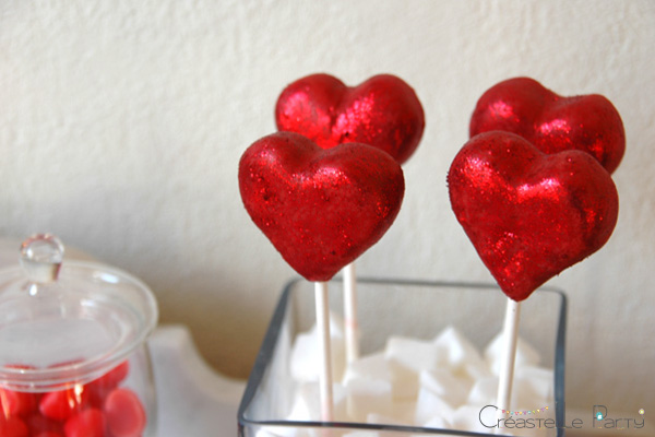 Valentine's day sweet table Saint-Valentin - Love Birds - cake pops