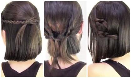 Ideide Tutorial Rambut Pendek Menawan Model Rambut Dan Gaya - Gaya rambut pendek kepang