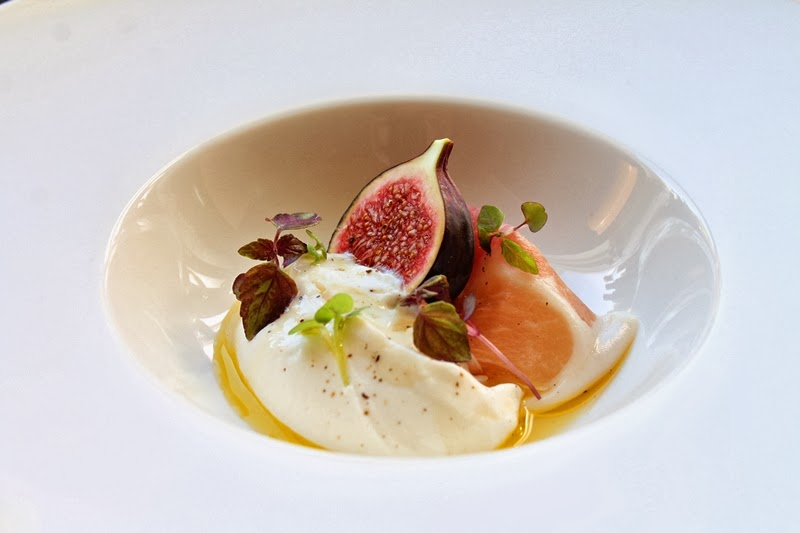 ... ricotta cheese with prosciutto, fresh figs & truffle honey #123
