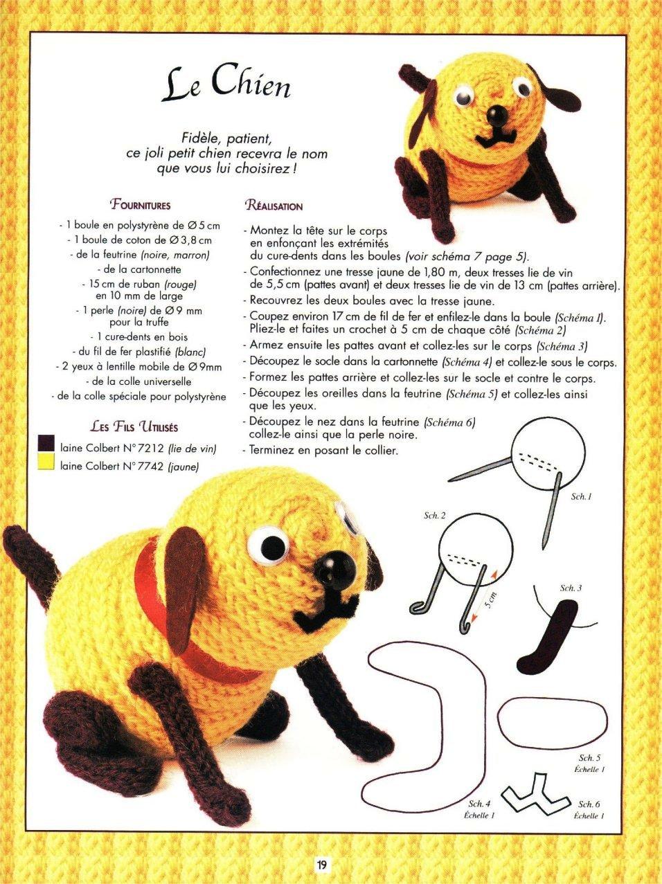 cachorro em crochet