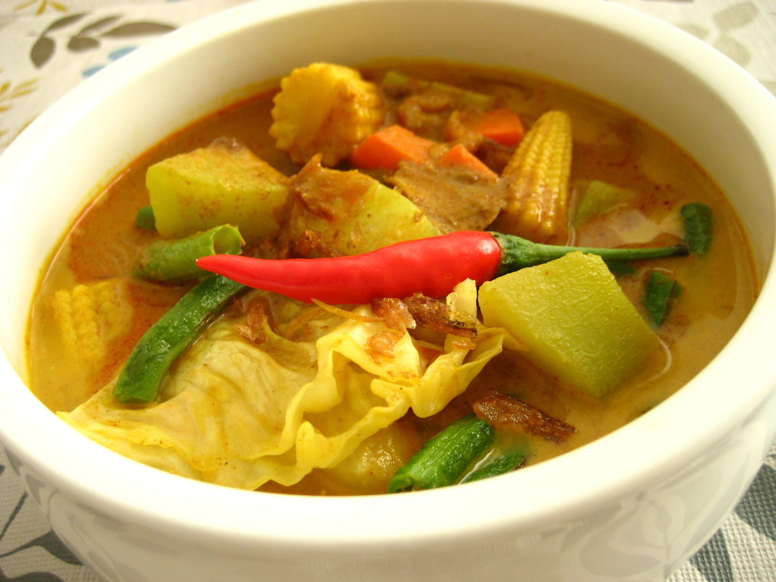 spice divas sayur lodeh vegetable curry