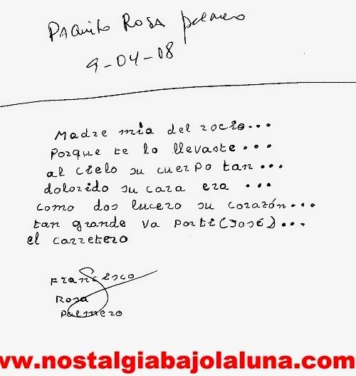 ESCRITO DEL LIBRO DE NOSTALGIA BAJO LA LUNA