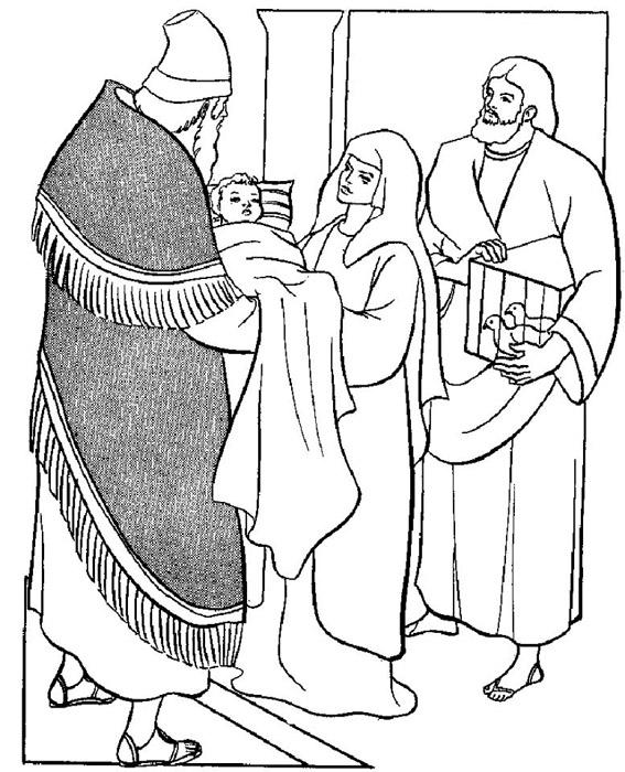 simeon and anna coloring page - compartiendo por amor dibujos presentaci n jes s en el templo