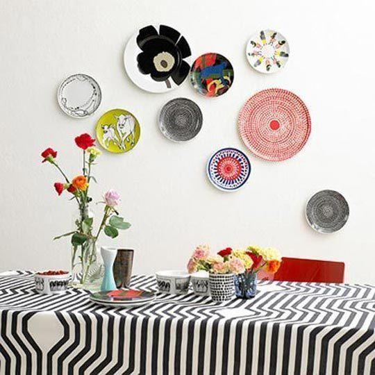 Pratos na parede, Decorar a casa de forma simples, decoração com amor.