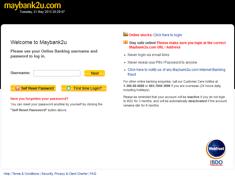 Mis 750 Management Information System Maybank Internet Banking Security