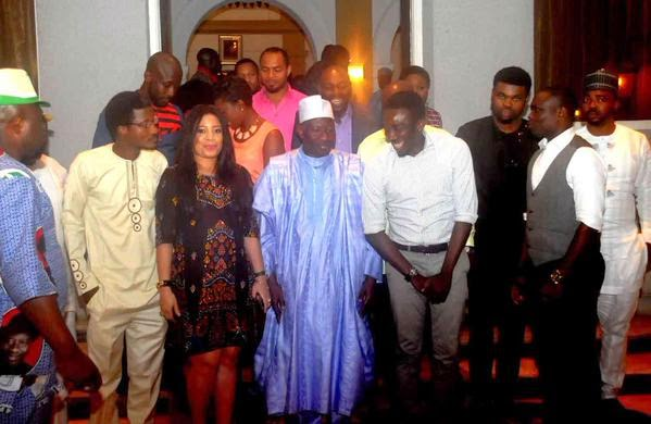 [Photos] Celebs Show Support For President Jonathan During Lagos Visit.