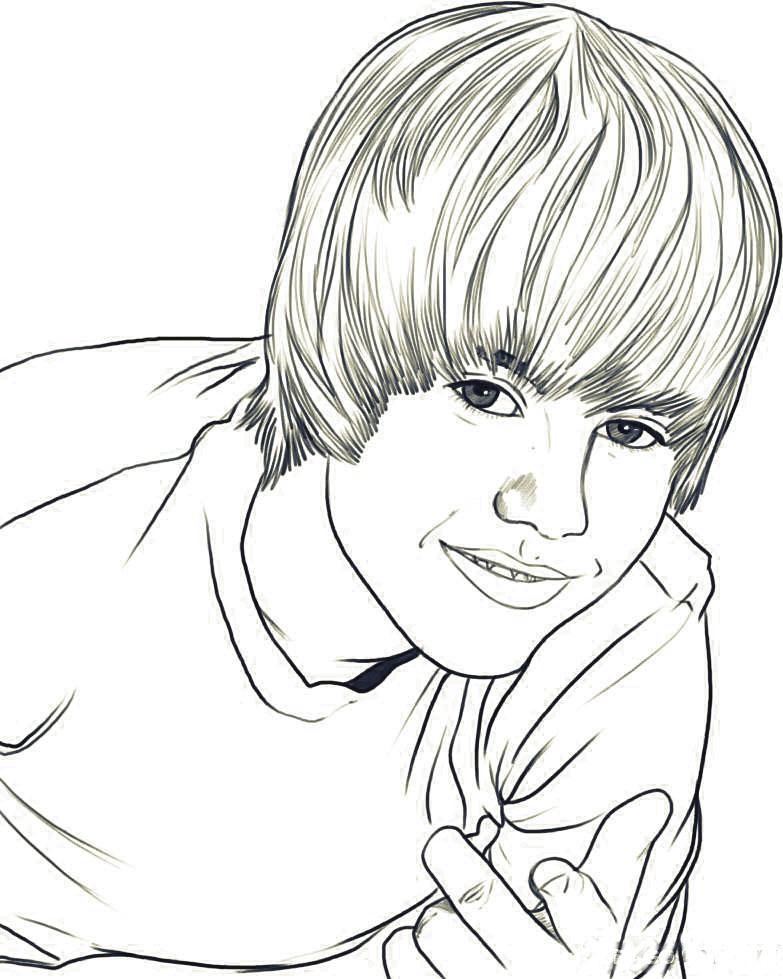 Dibujo de Justin Bieber