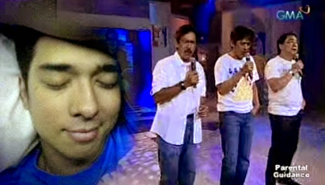 TVJ or Tito, Vic and Joey singing Kaleidoscope World as a tribute to FrancisM.