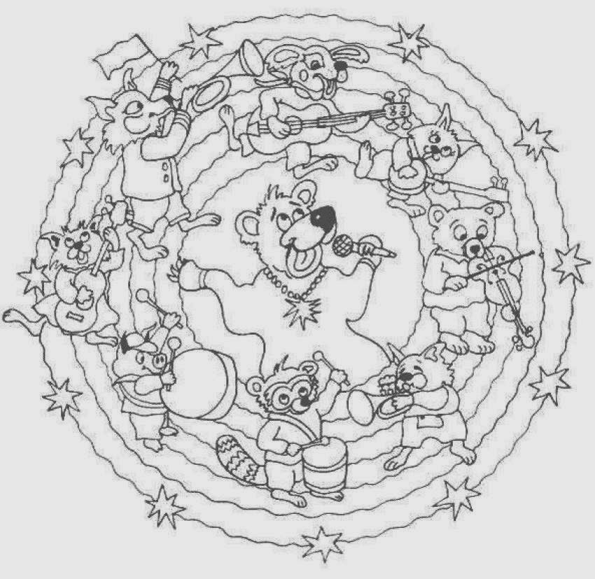Free Mandala Wolf Coloring Pages