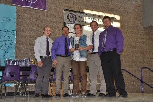 2013-14 Most Improved Varsity - Caden Calton
