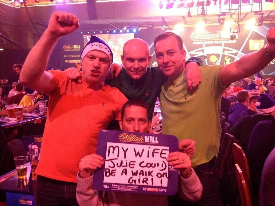 Darron Stump at the Darts